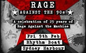 Rage against the 90s harbour cruise