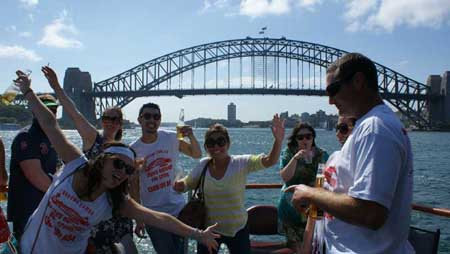 Pub Tour Sydney Pubs aboard the Rhythmboat