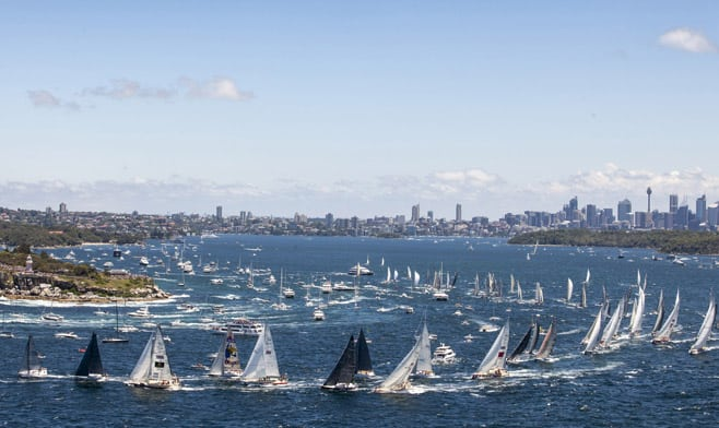 Start of the Rolex Sydney Hobart Yacht Race 2013