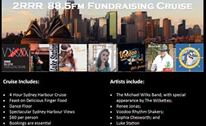 2RRR 88.5 Fundraising Sydney Harbour Cruise