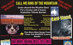 Midnight Oil & Chisel Barnes Tribute Harbour Cruise