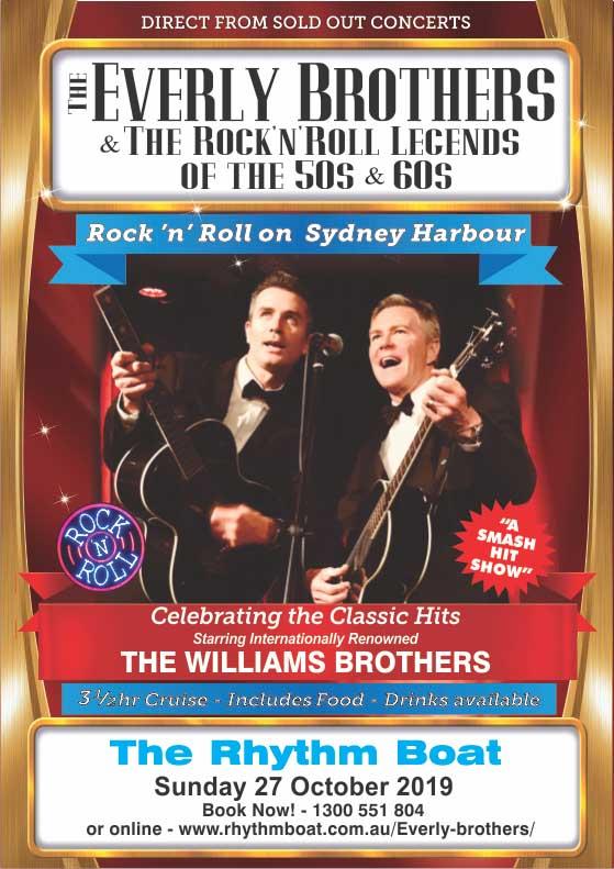 Everly Bros Sydney Harbour cruise