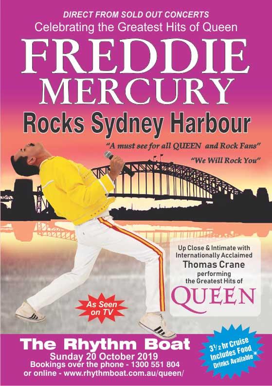 Freddie Mercury Cruise Sydney Harbour Rhythmboat
