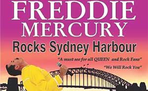 Freddie Mercury rocks Sydney harbour